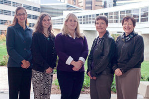 The ICTR Mentoring Team: (l to r) Christine Pfund, Stephanie House, Kimberley Spencer, Christine Sorkness, Pam Asquith.