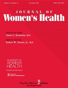 journal of womens health cover