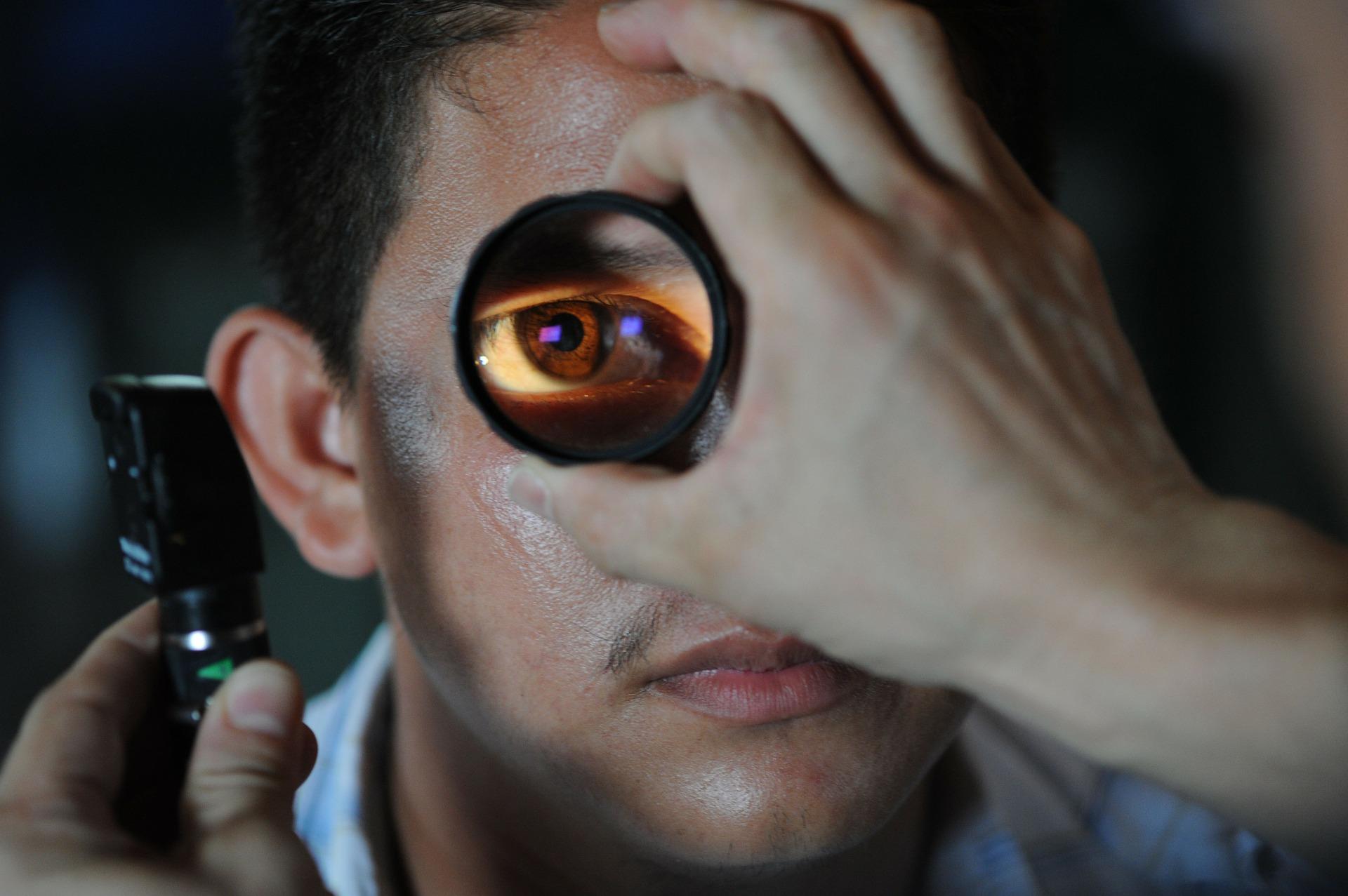 Eye Exam Closeup